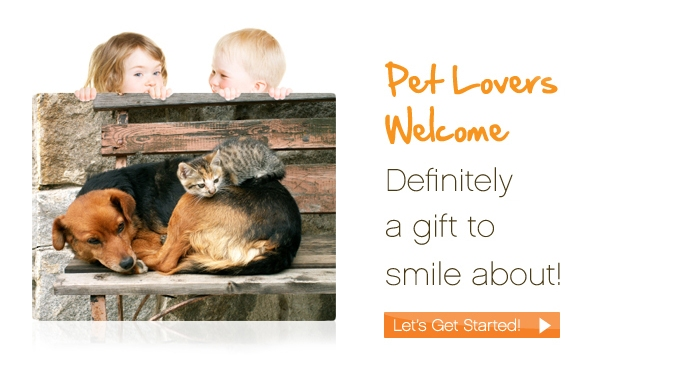 Pet lover's welcome